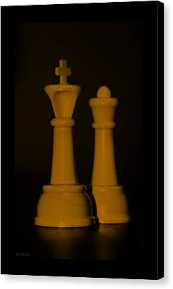 King And Queen In Orange Canvas Print by Rob Hans