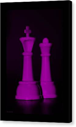 King And Queen In Pink Canvas Print by Rob Hans