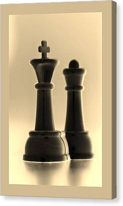 King And Queen In Sepia Canvas Print by Rob Hans