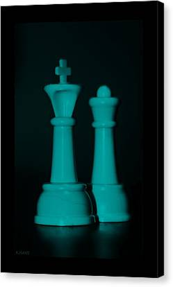 King And Queen In Turquois Canvas Print by Rob Hans