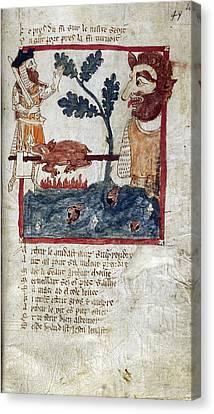 King Arthur And Giant Canvas Print