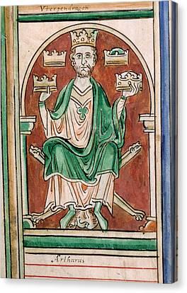 King Arthur Seated Canvas Print