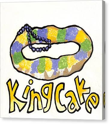 King Cake Canvas Print by Elaine Hodges