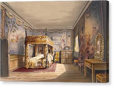 King Charles Room, Cotehele House Canvas Print by English School