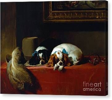 King Charles Spaniels Canvas Print by Pg Reproductions