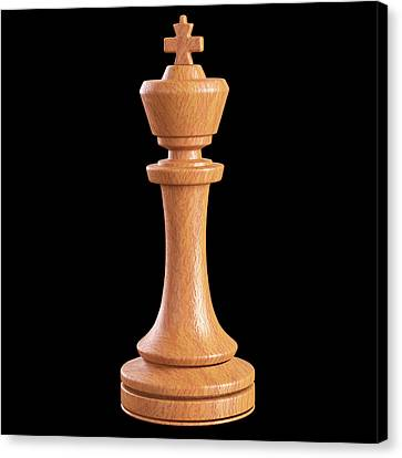 King Chess Piece Canvas Print