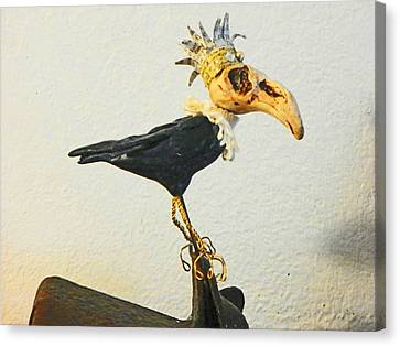 King Crow Canvas Print by Lenore Senior
