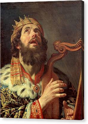 1622 Canvas Print - King David Playing The Harp by Gerard van Honthorst