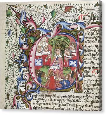 King Edward Iv Canvas Print by British Library