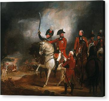King George IIi And The Prince Of Wales Canvas Print by Sir William Beechey