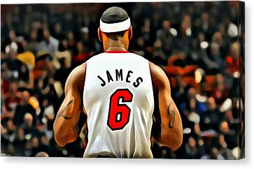 Lebron Canvas Print - King James by Florian Rodarte