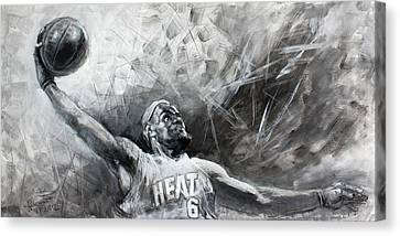 Lebron Canvas Print - King James Lebron by Ylli Haruni