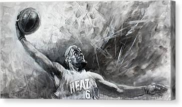 Nba Canvas Print - King James Lebron by Ylli Haruni