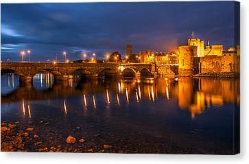 King John's Castle Limerick City Ireland Canvas Print by Pierre Leclerc Photography
