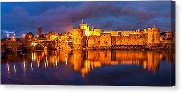 King John's Castle On The River Shannon Canvas Print by Pierre Leclerc Photography