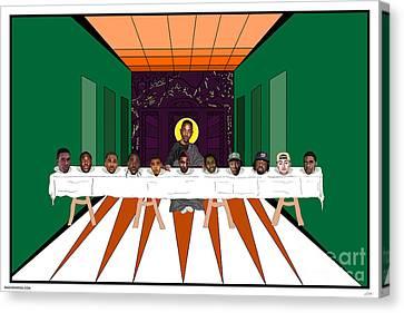 Last Supper Canvas Print - King Kendrick by Brad Beatson