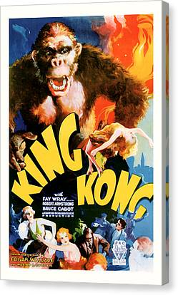 Canvas Print featuring the mixed media King Kong 1933 Movie Art by Presented By American Classic Art