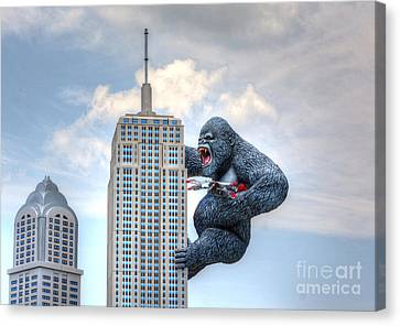King Kong Comes To Myrtle Beach Canvas Print by Kathy Baccari