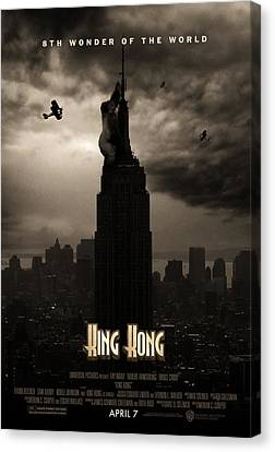 King Kong Custom Poster Canvas Print by Jeff Bell