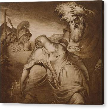 King Lear And Cordelia Canvas Print by James Barry