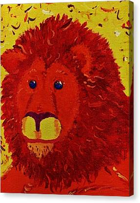 King Of Beasts Canvas Print by Yshua The Painter