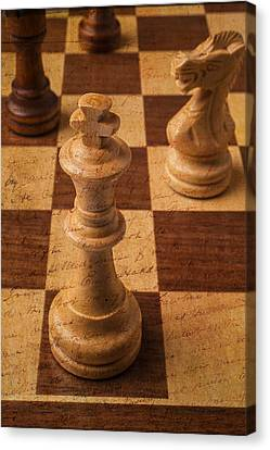 King Of Chess Canvas Print by Garry Gay