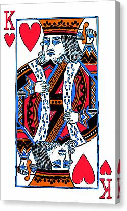 King Of Hearts 20140301 Canvas Print by Wingsdomain Art and Photography