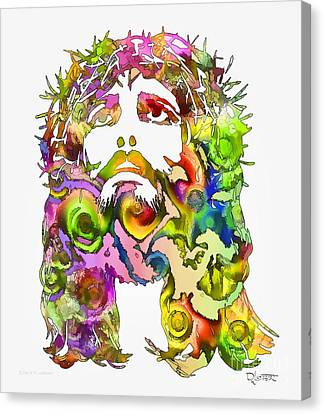 Canvas Print featuring the painting King Of Not Of This World by Dave Luebbert