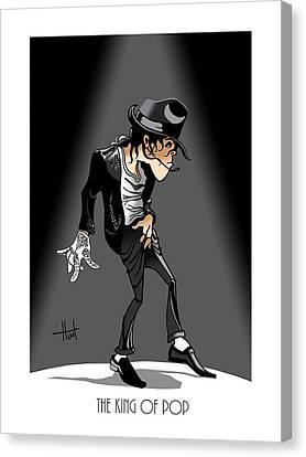 Mj Canvas Print - King Of Pop by Bill Hunt