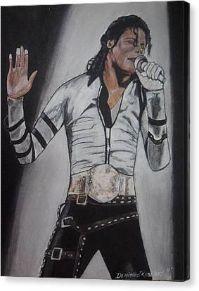 King Of Pop Canvas Print by Demitrius Roberts