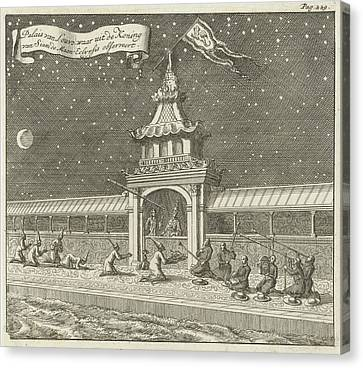 King Of Siam Thailand Observes The Lunar Eclipse Canvas Print