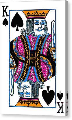 King Of Spades - V3 Canvas Print