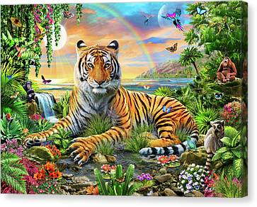 King Of The Jungle Canvas Print by Adrian Chesterman