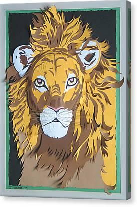 King Of The Jungle Canvas Print by John Hebb