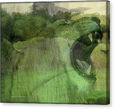 Canvas Print featuring the photograph King Of The Jungle by Kathie Chicoine