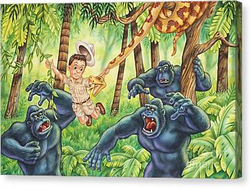 King Of The Jungle Canvas Print by Phil Wilson