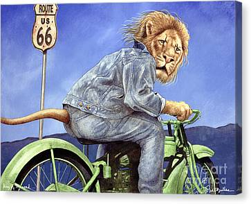 King Of The Road... Canvas Print by Will Bullas