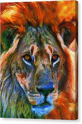 Lions Canvas Print - King Of The Wilderness by Georgiana Romanovna