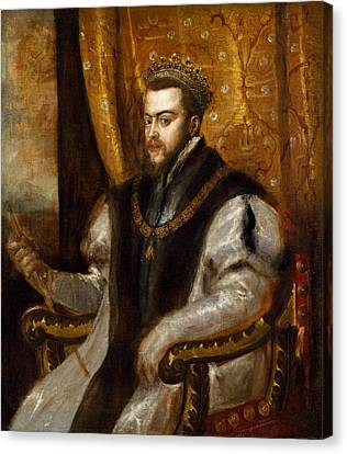 King Philip II Of Spain, C.1550-51 Oil On Canvas Canvas Print by Titian