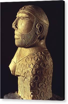 King-priest. Ca. 2000 Bc. Limestone Canvas Print by Everett