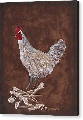 King Richard The Rooster Canvas Print by Barbara St Jean
