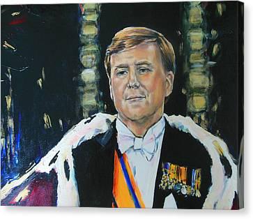 King Willem Alexander Canvas Print by Lucia Hoogervorst