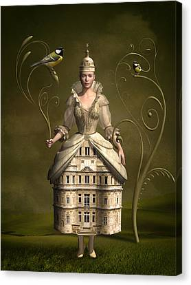 Kingdom Of Her Own Canvas Print by Britta Glodde