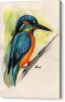 Kingfisher Canvas Print by Angel  Tarantella