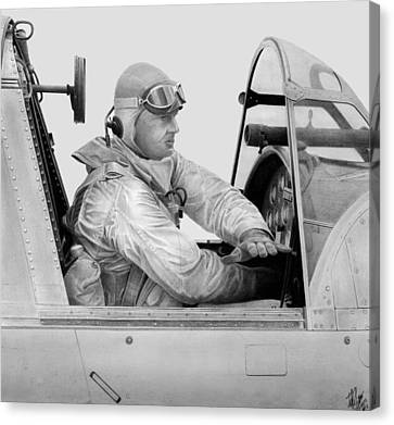 Kingfisher Pilot Canvas Print by Lyle Brown