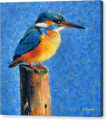 Kingfisher The King Canvas Print by George Rossidis