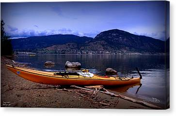 Canvas Print featuring the photograph Kings Beach - Okanagan Lake - Kayaking by Guy Hoffman