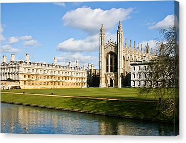 Kings College Cambridge Canvas Print by Tom Gowanlock
