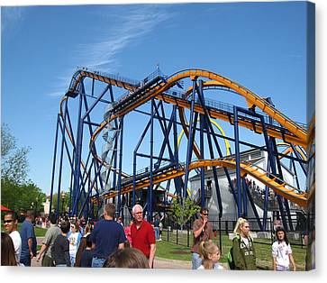 Kings Dominion - Dominator - 01131 Canvas Print by DC Photographer
