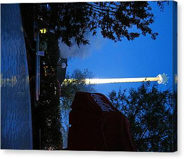 Kings Dominion - Drop Tower - 12124 Canvas Print by DC Photographer